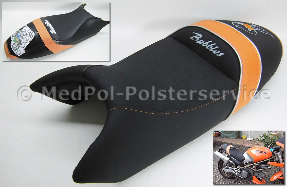 Ducati Motorradsitzbänke - neugepolstert in einem neuen Design